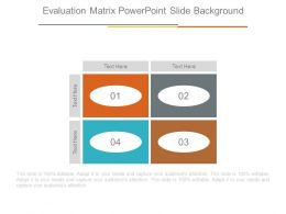 Evaluation Matrix Powerpoint Slide Background