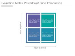 Evaluation Matrix Powerpoint Slide Introduction