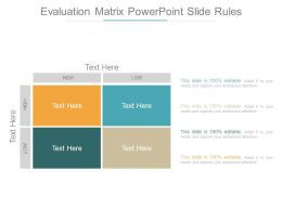 Evaluation Matrix Powerpoint Slide Rules