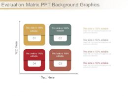 Evaluation Matrix Ppt Background Graphics