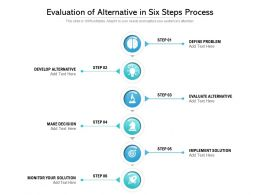 Evaluation Of Alternative In Six Steps Process