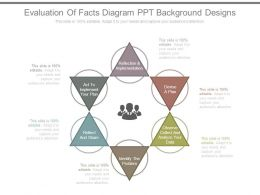 Evaluation Of Facts Diagram Ppt Background Designs