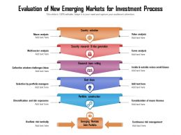 Evaluation Of New Emerging Markets For Investment Process