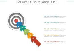 Evaluation Of Results Sample Of Ppt
