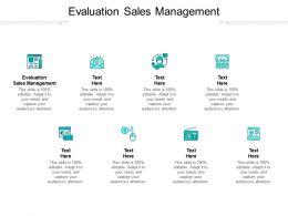 Evaluation Sales Management Ppt Powerpoint Presentation Pictures Deck Cpb