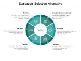 Evaluation Selection Alternative Ppt Powerpoint Presentation Inspiration Format Cpb