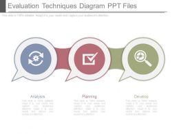 Evaluation Techniques Diagram Ppt Files