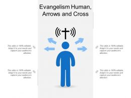 Evangelism Human Arrows And Cross