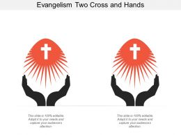 Evangelism Two Cross And Hands