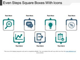 Even Steps Square Boxes With Icons