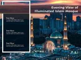 Evening View Of Illuminated Islam Mosque