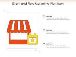 Event And Field Marketing Plan Icon