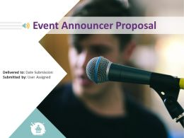 Event Announcer Proposal Powerpoint Presentation Slides