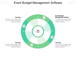 Event Budget Management Software Ppt Powerpoint Presentation Ideas Example File Cpb