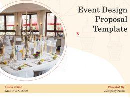 Event Design Proposal Template Powerpoint Presentation Slides