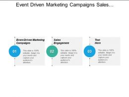 Event Driven Marketing Campaigns Sales Engagement Sales Engagement Cpb