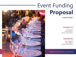 Event Funding Proposal Powerpoint Presentation Slides