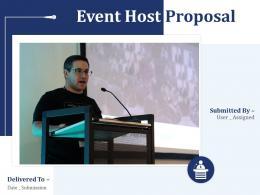 Event Host Proposal Powerpoint Presentation Slides