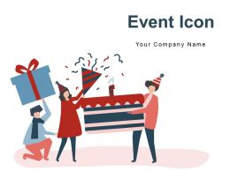 Event Icon Advertising Billboard Calendar Inauguration Invitation Microphone Stage Audience