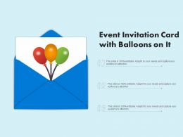 Event Invitation Card With Balloons On It