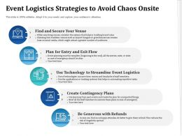 Event Logistics Strategies To Avoid Chaos Onsite