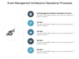 Event Management Architecture Operational Processes Ppt Powerpoint Presentation Download Cpb
