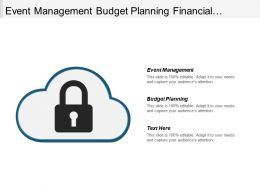 Event Management Budget Planning Financial Planning Performance Evaluation Cpb