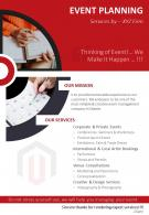 Event Management Company Two Page Flyer Template