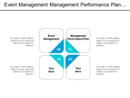 Event Management Management Performance Plan Process Improvement Quality Cpb