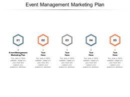 Event Management Marketing Plan Ppt Powerpoint Presentation Professional Cpb