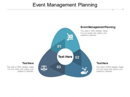 Event Management Planning Ppt Powerpoint Presentation Model Graphics Cpb