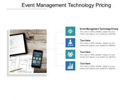 Event Management Technology Pricing Ppt Powerpoint Presentation Summary Cpb
