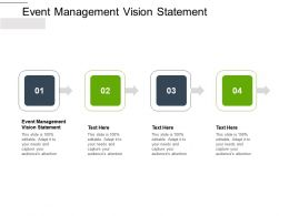 Event Management Vision Statement Ppt Powerpoint Presentation Inspiration Objects Cpb