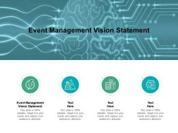 Event Management Vision Statement Ppt Powerpoint Presentation Summary Slide Portrait Cpb