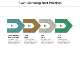 Event Marketing Best Practices Ppt Powerpoint Presentation Gallery Design Templates Cpb