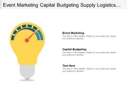 Event Marketing Capital Budgeting Supply Logistics Operational Plan Cpb