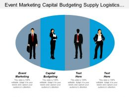 Event Marketing Capital Budgeting Supply Logistics System Management Cpb