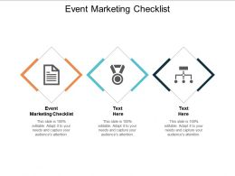 Event Marketing Checklist Ppt Powerpoint Presentation Icon Designs Cpb