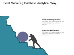 Event Marketing Database Analytical Way Thinking Ecommerce Price Strategy Cpb