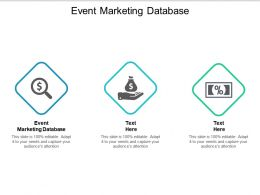 Event Marketing Database Ppt Powerpoint Presentation Pictures Elements Cpb
