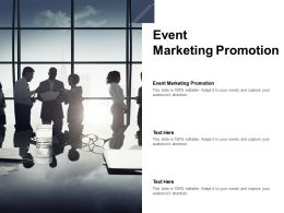 Event Marketing Promotion Ppt Powerpoint Presentation Layouts Show Cpb