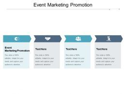 Event Marketing Promotion Ppt Powerpoint Presentation Portfolio Samples Cpb
