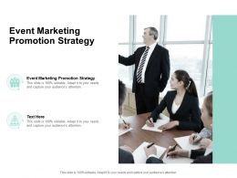 Event Marketing Promotion Strategy Ppt Powerpoint Presentation Ideas Cpb