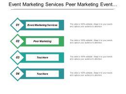 Event Marketing Services Peer Marketing Event Planning Marketing Plan Cpb