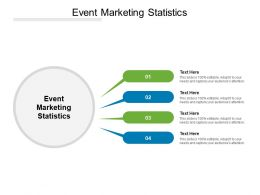 Event Marketing Statistics Ppt Powerpoint Presentation Infographic Cpb