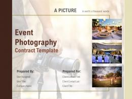 Event Photography Contract Template Powerpoint Presentation Slides