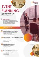 Event Planner Catalogue Two Page Brochure Template