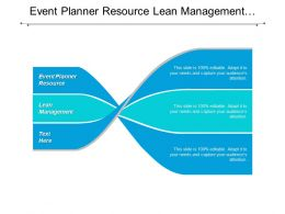 Event Planner Resource Lean Management Communication Skills Business Opportunity Cpb