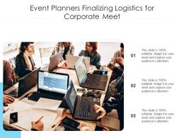 Event Planners Finalizing Logistics For Corporate Meet