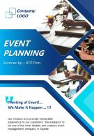 Event Planning And Management Two Page Brochure Template